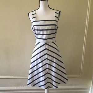 Draper James Striped A-Line Dress
